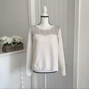 Hinge White Crewneck Sweater